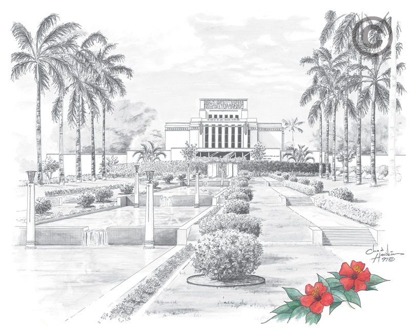 Laie Hawaii Temple - Sketch in Temple | LDSBookstore.com (#CH-SKETCH ...