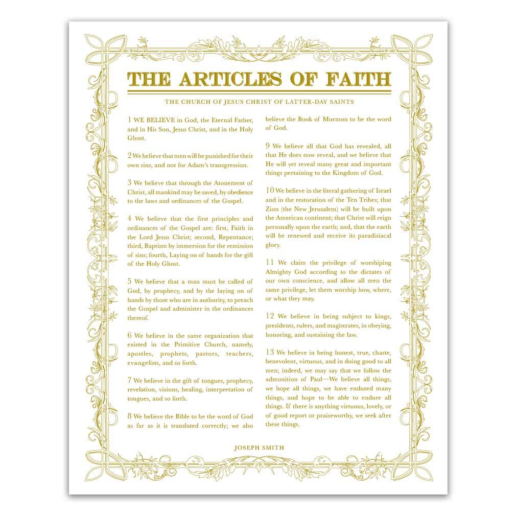 Leaf Outline Articles of Faith - LDP-AF282