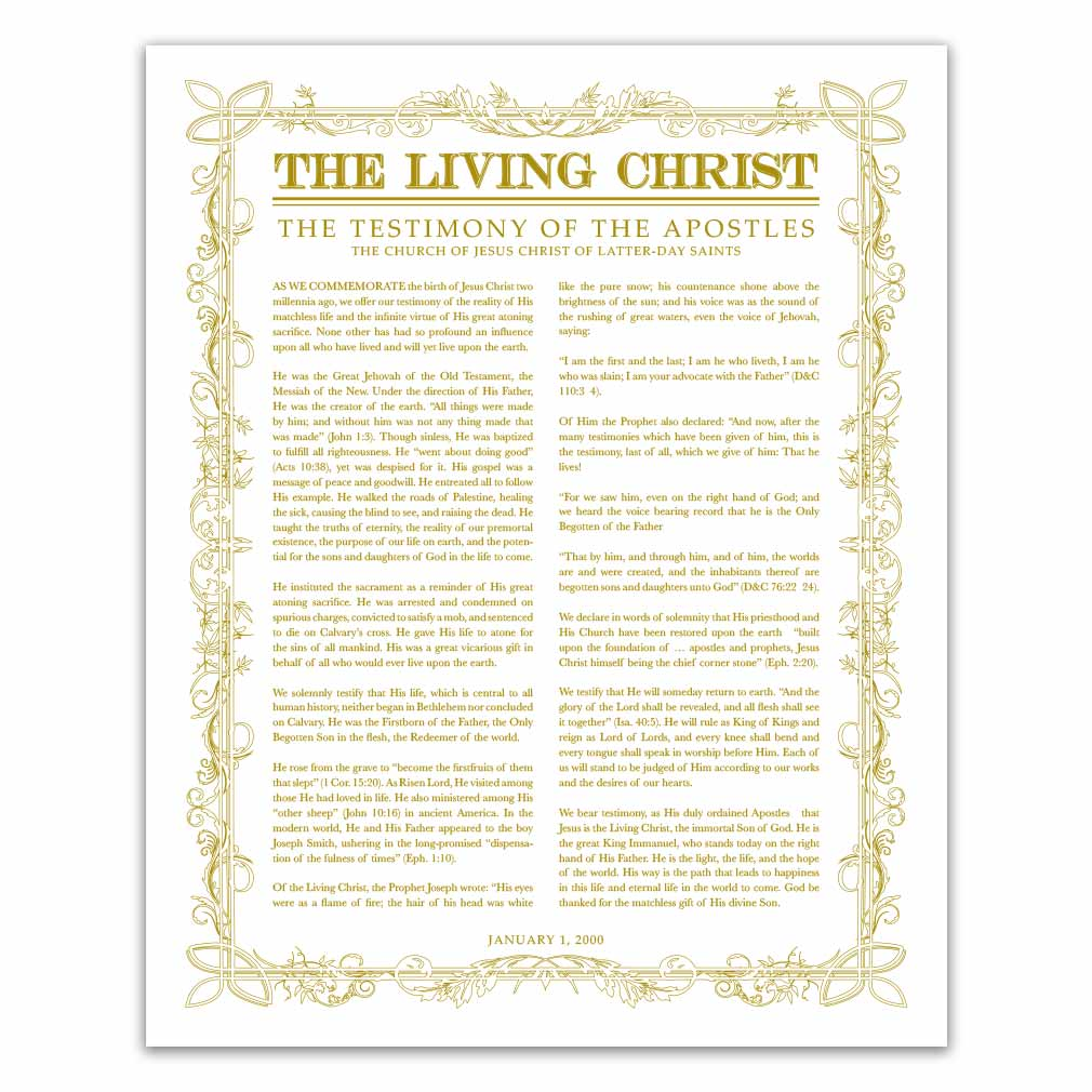 Leaf Outline Living Christ - LDP-LC282