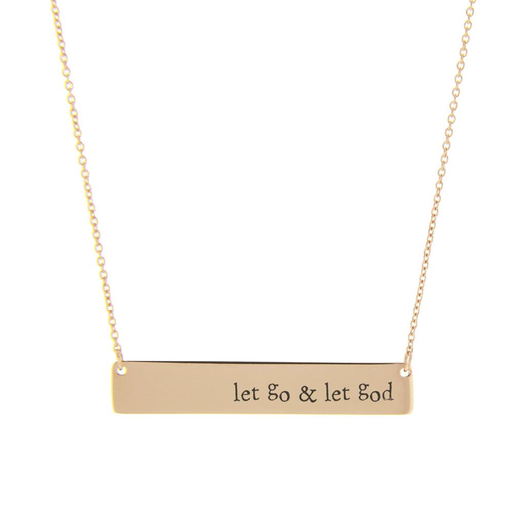Let Go & Let God Bar Necklace - LDP-HBN10277