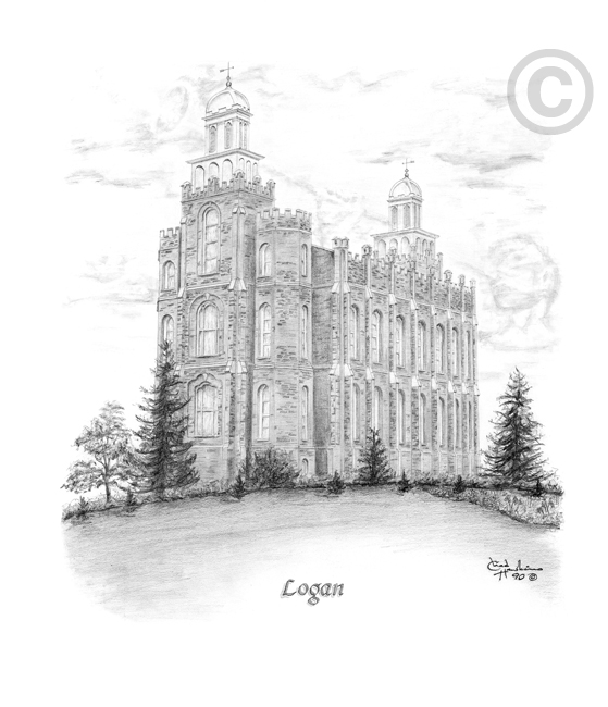 Logan Utah Temple Sketch In Temple Ch Sketch Logan