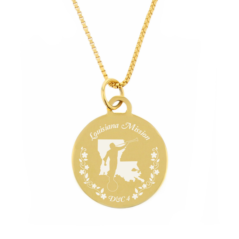 Louisiana Mission Necklace - Silver/Gold - LDP-CPN57