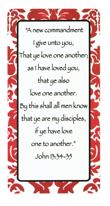 Love One Another Bookmark - X-RMA-4909