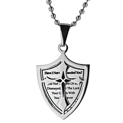 Courage 2 Piece Shield Necklace