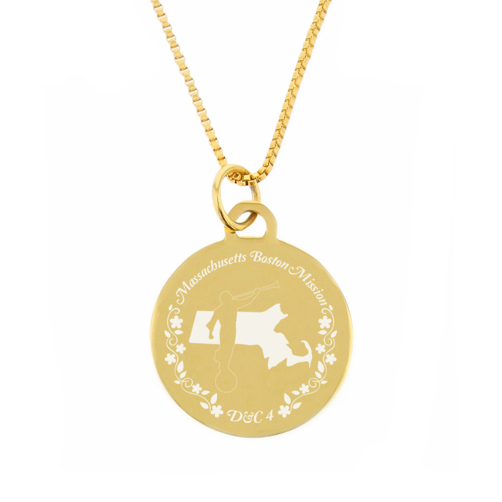 Massachusetts Mission Necklace - Silver/Gold - LDP-CPN60