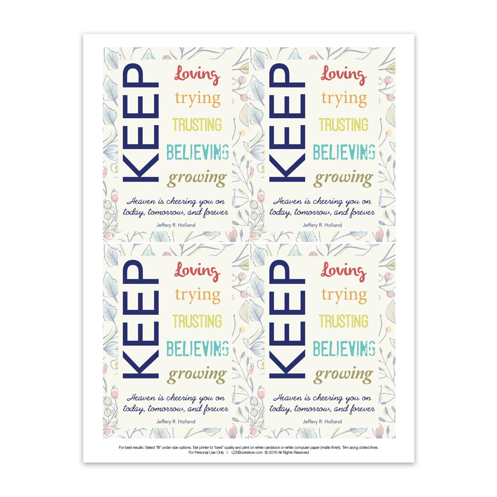 Visiting Teaching Handout - Keep Trying - Printable - LDPD-PBLMAYVT2