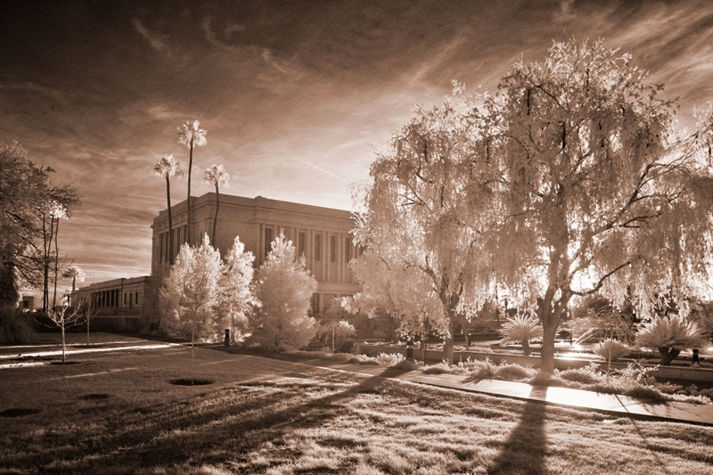 Mesa Temple - Infared Path