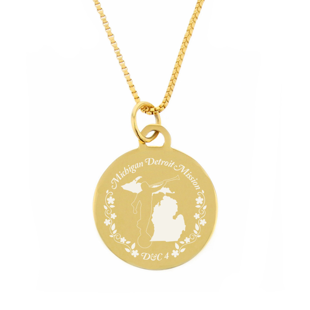 Michigan Mission Necklace - Silver/Gold - LDP-CPN61