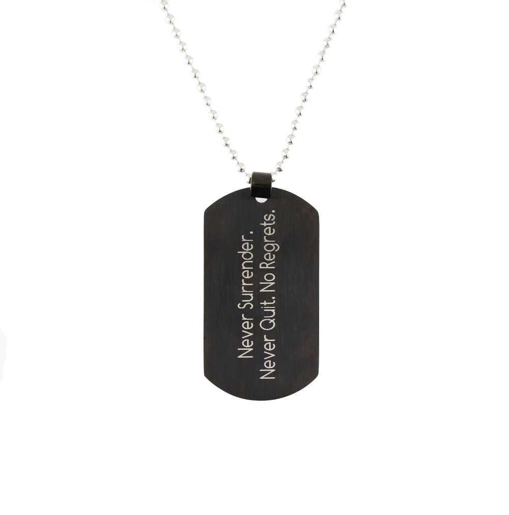 Missionary Name Tag Necklace - LDP-DTG15234-BLK