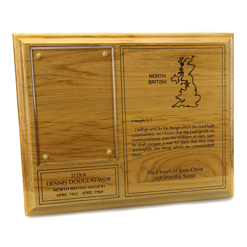 Wood Missionary Plaque