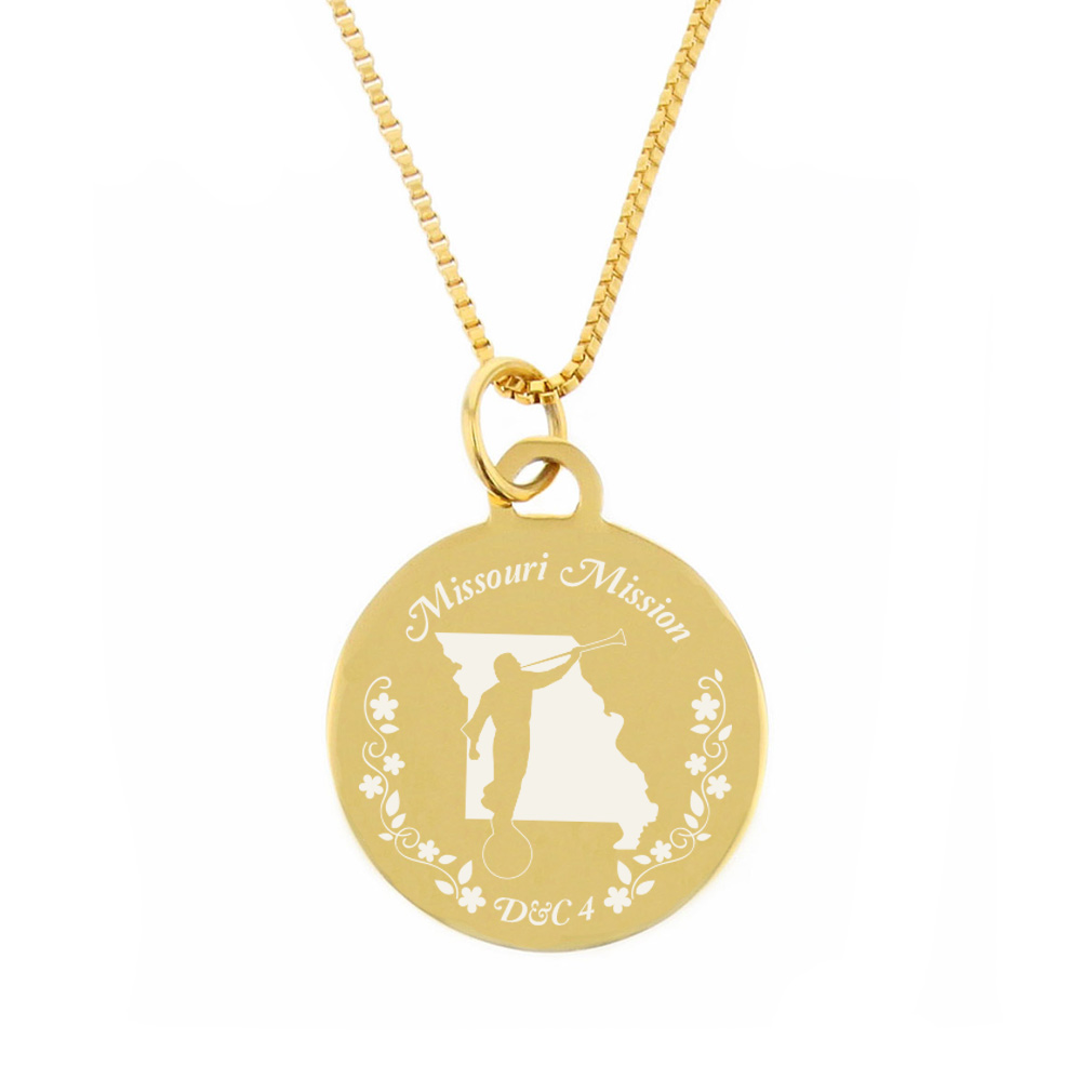 Missouri Mission Necklace - Silver/Gold - LDP-CPN64