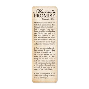 Moroni's Promise Bookmark