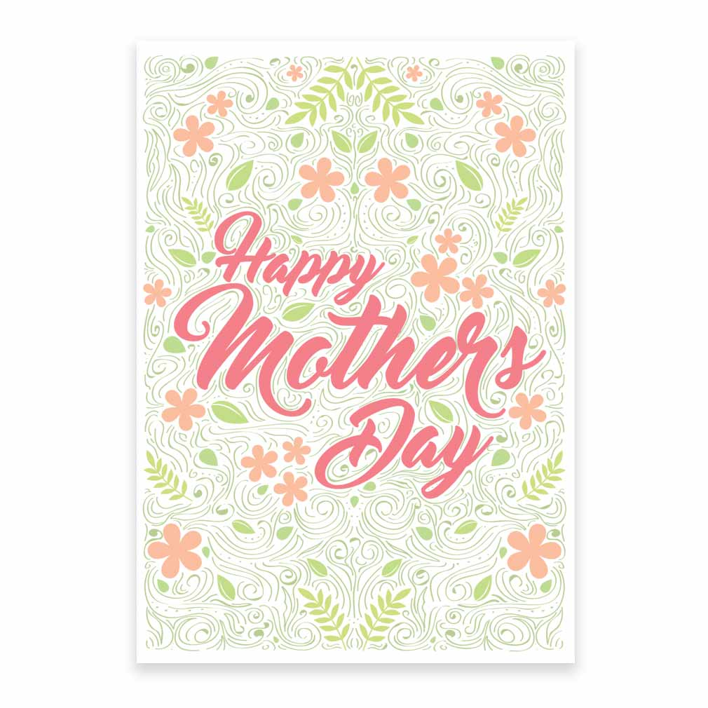 image relating to Happy Mothers Day Printable Card titled Moms Working day Card - Bouquets - Printable