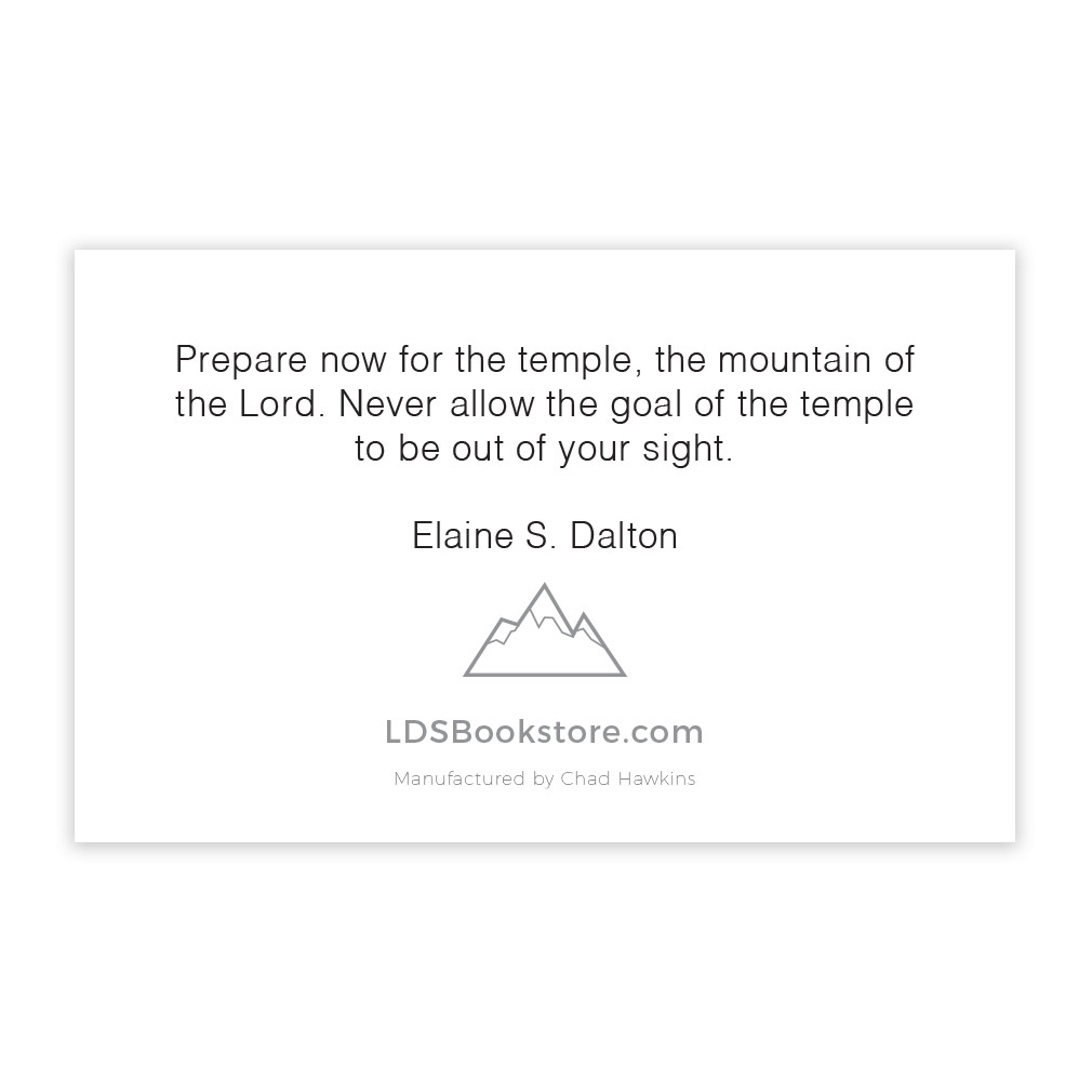 Mountain of the Lord Recommend Holder - LDP-REC30239