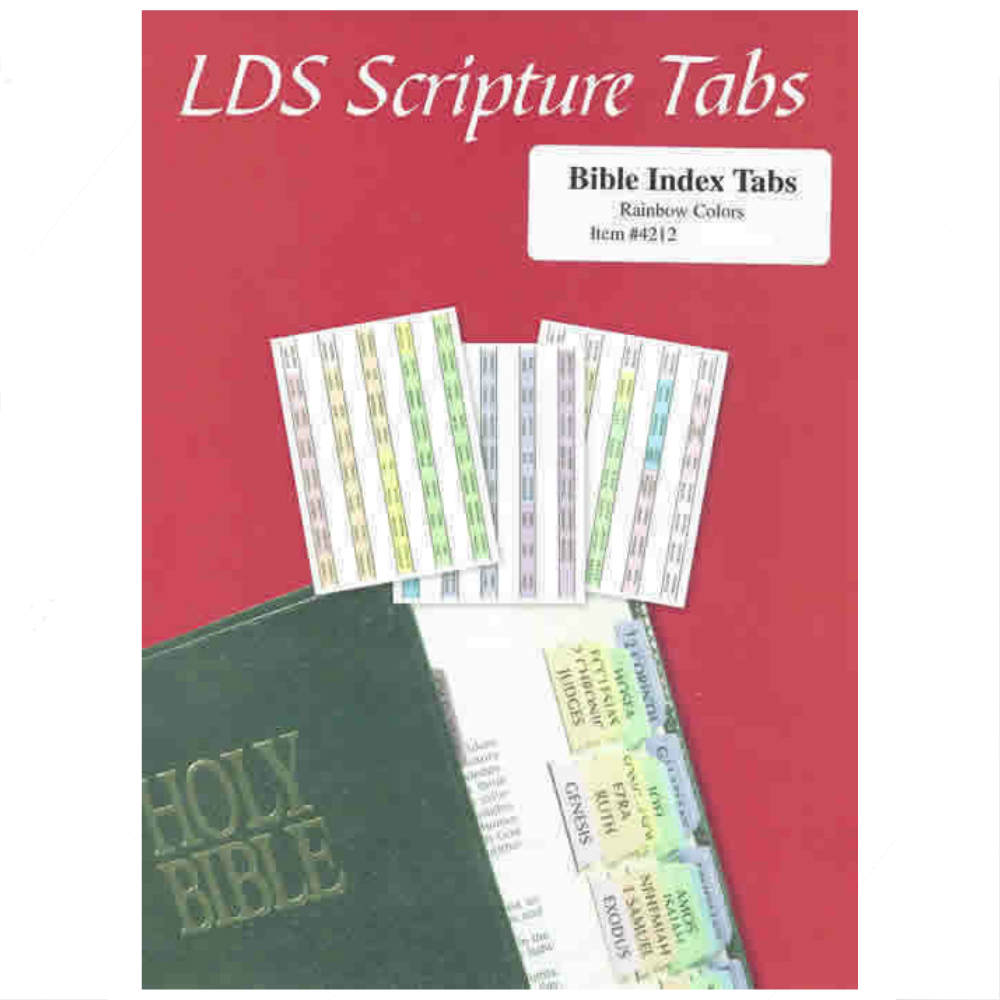 Multicolor Bible Scripture Tabs in Scripture Tabs | LDSBookstore.com ...
