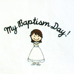 My Baptism Day Towel - Brown Hair Girl baptism, baptism towel, lds baptism towel