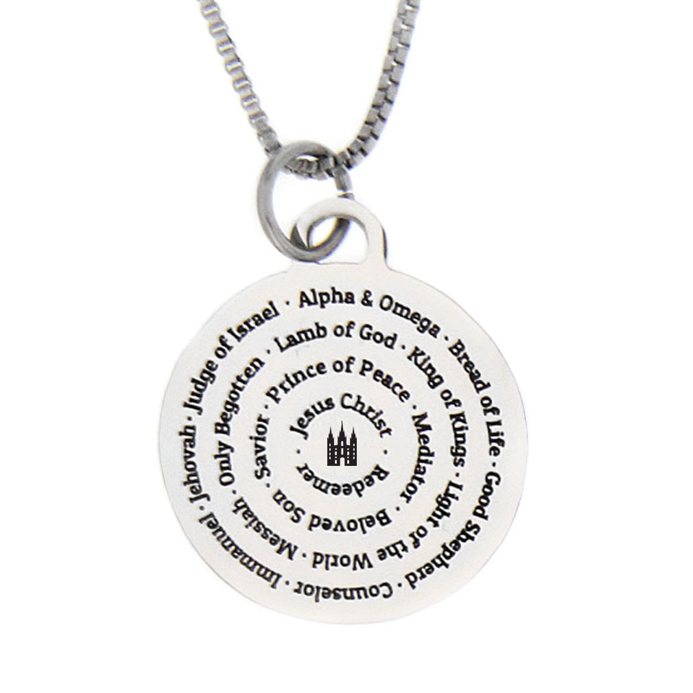 Names of jesus necklace silver ctr ring shop free shipping names of jesus necklace silver ldp cpn0530 slv aloadofball Image collections