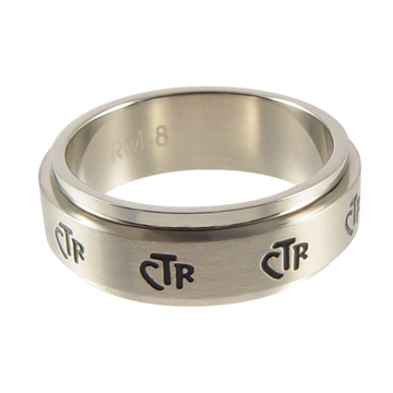 A ring with the letters