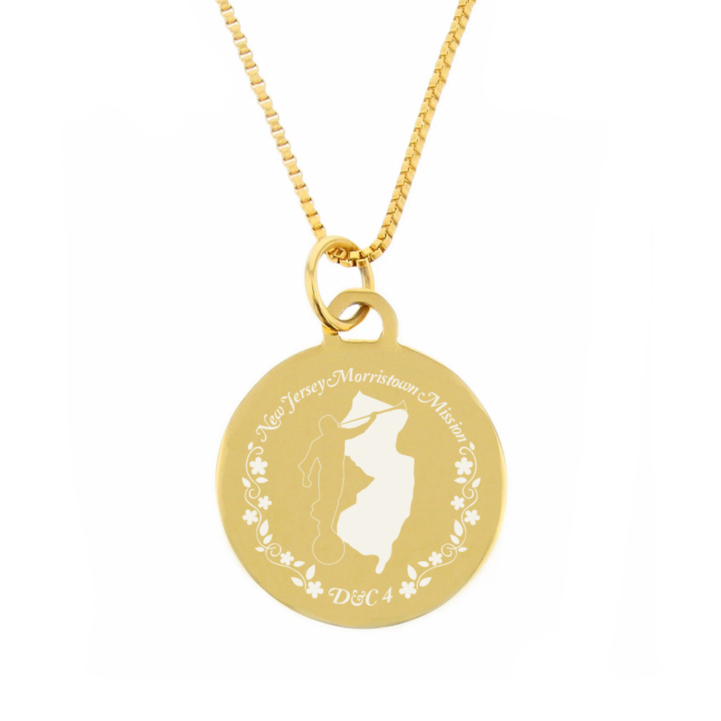 New Jersey Mission Necklace - Silver/Gold - LDP-CPN69