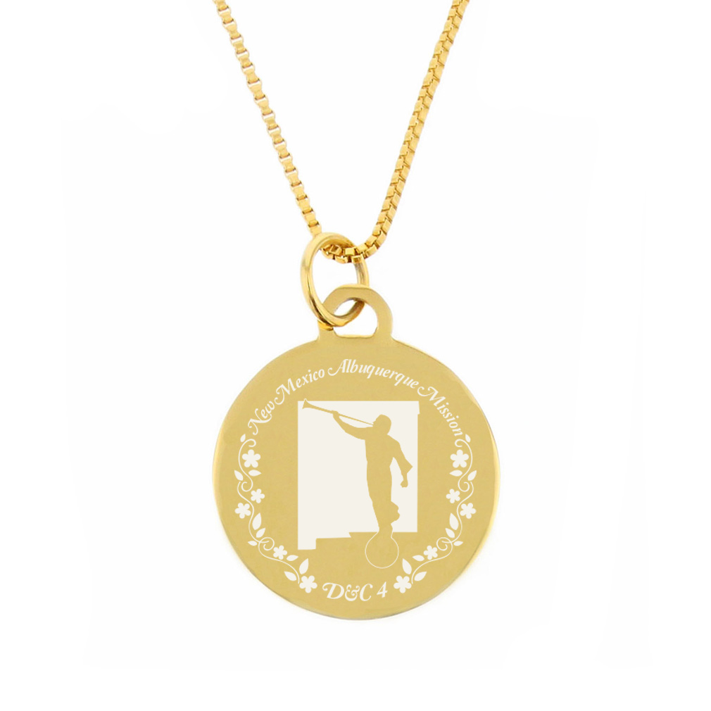 New Mexico Mission Necklace - Silver/Gold - LDP-CPN70