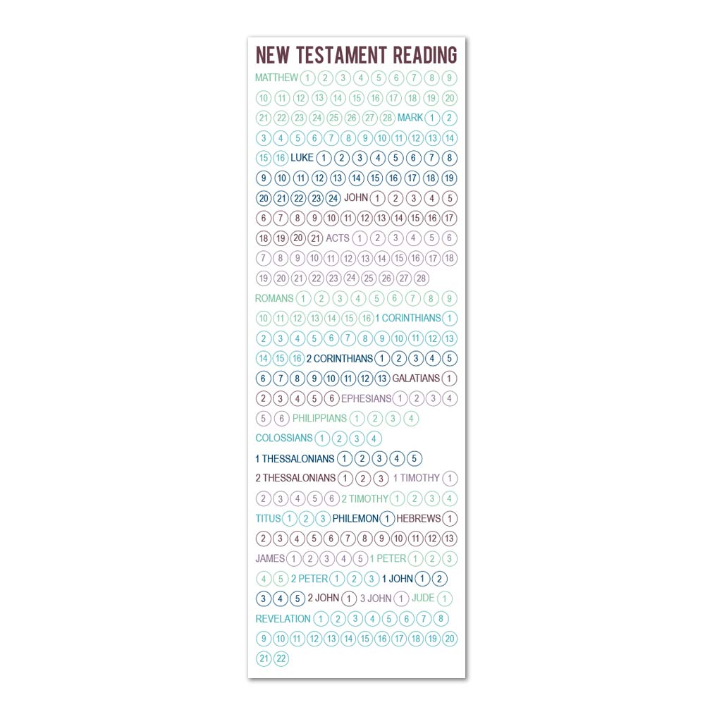 New Testament Reading Chart Bookmark in Bookmarks | LDSBookstore.com ...