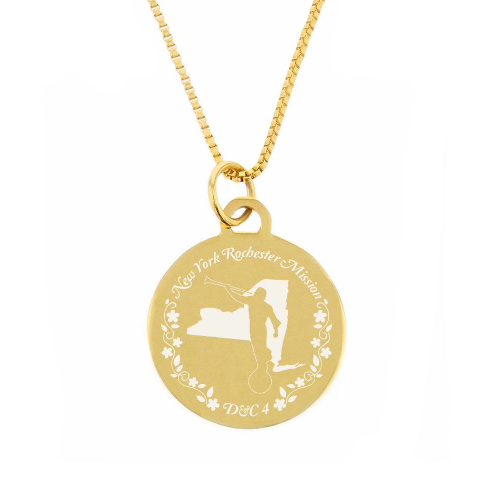 New York Mission Necklace - Silver/Gold - LDP-CPN71