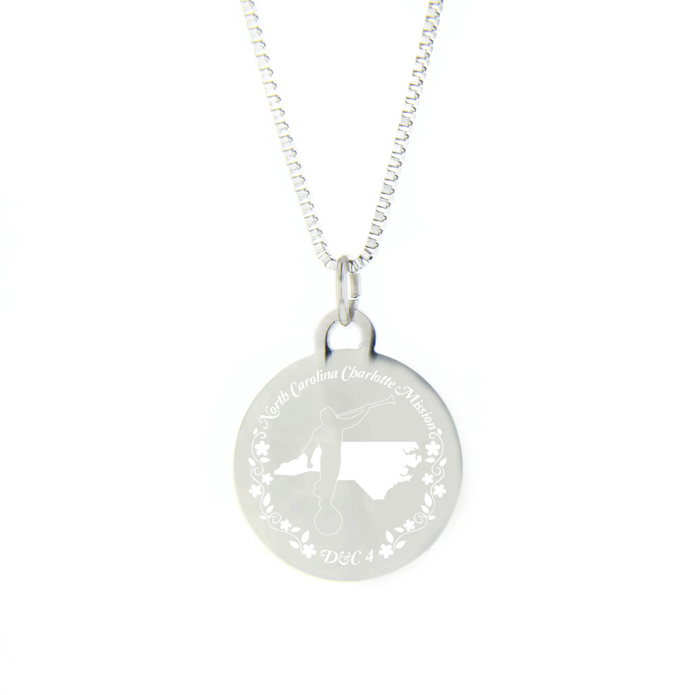 North Carolina Mission Necklace - Silver/Gold - LDP-CPN72