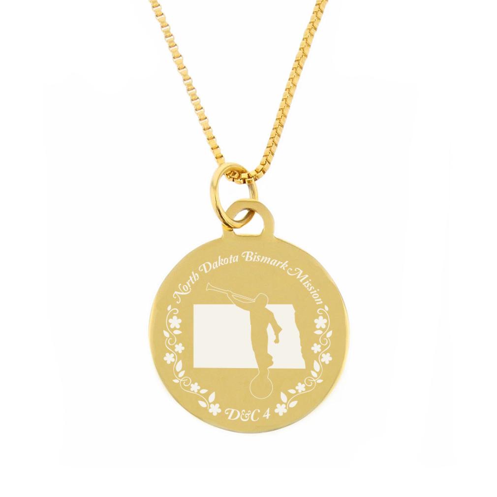 North Dakota Mission Necklace - Silver/Gold - LDP-CPN73