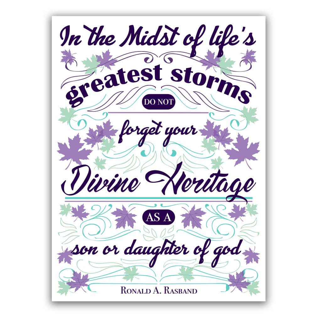 Divine Heritage - Printable lds visiting teaching method, lds visiting teaching handout, lds relief society message handout, october relief society handout, october visiting teaching messsage