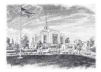 Ogden Utah Temple - Sketch