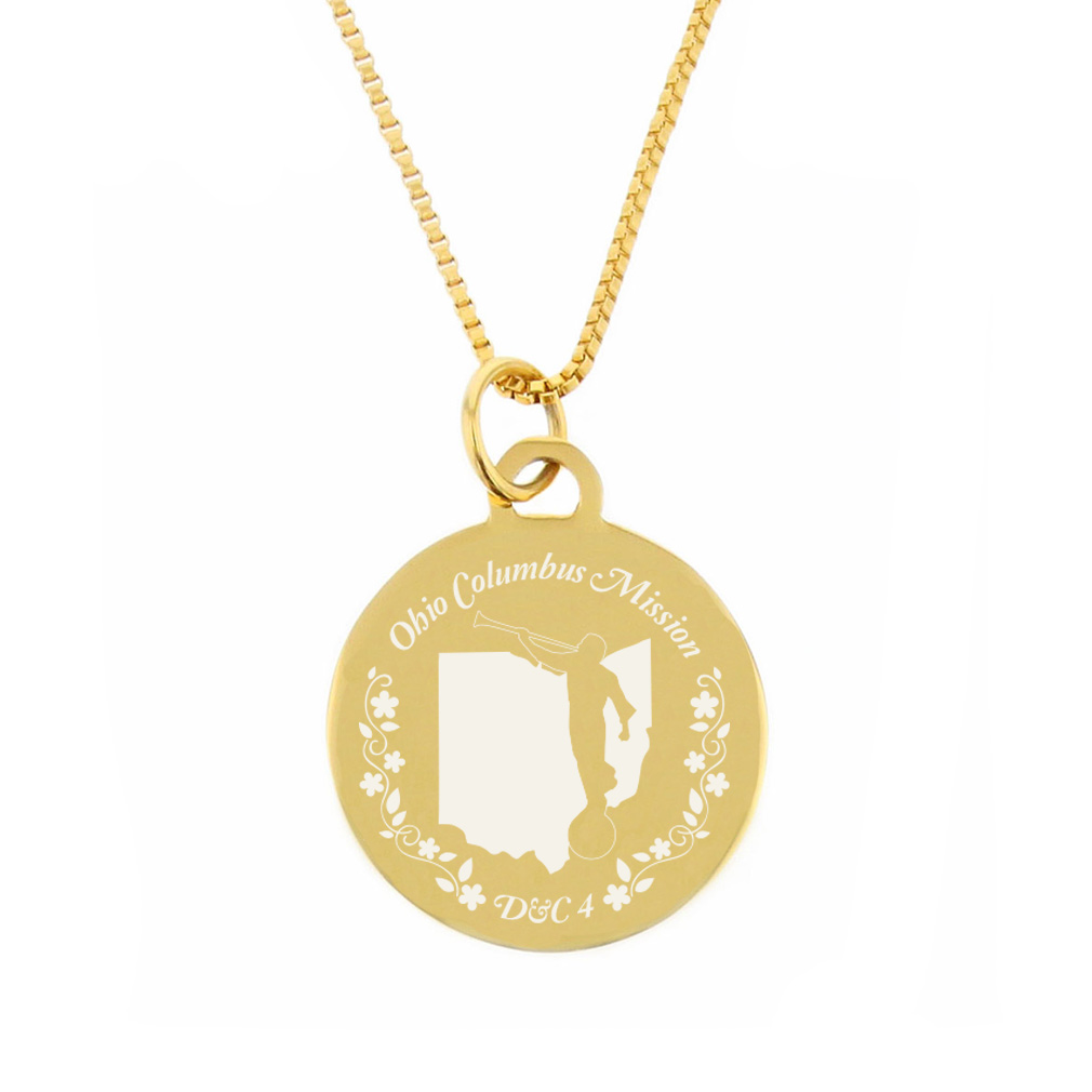 Ohio Mission Necklace - Silver/Gold - LDP-CPN74