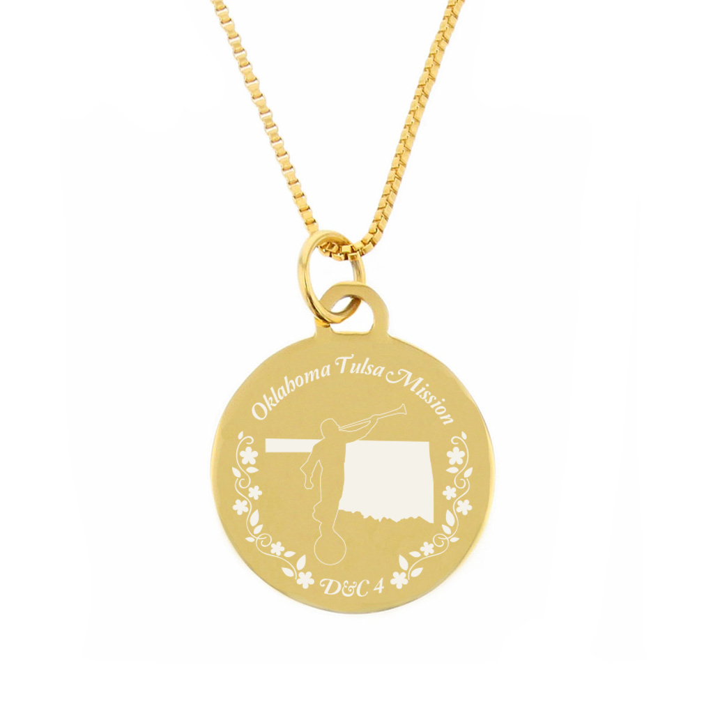 Oklahoma Mission Necklace - Silver/Gold - LDP-CPN75