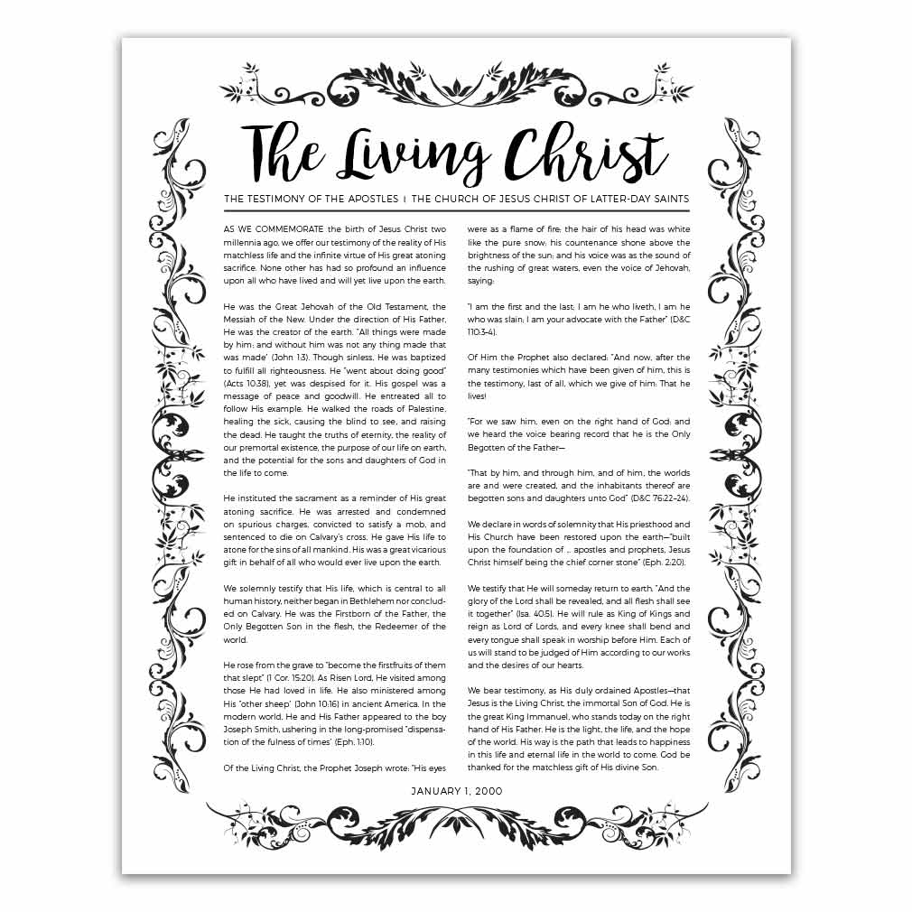graphic relating to The Living Christ Free Printable known as Natural and organic Residing Christ - Black - Printable