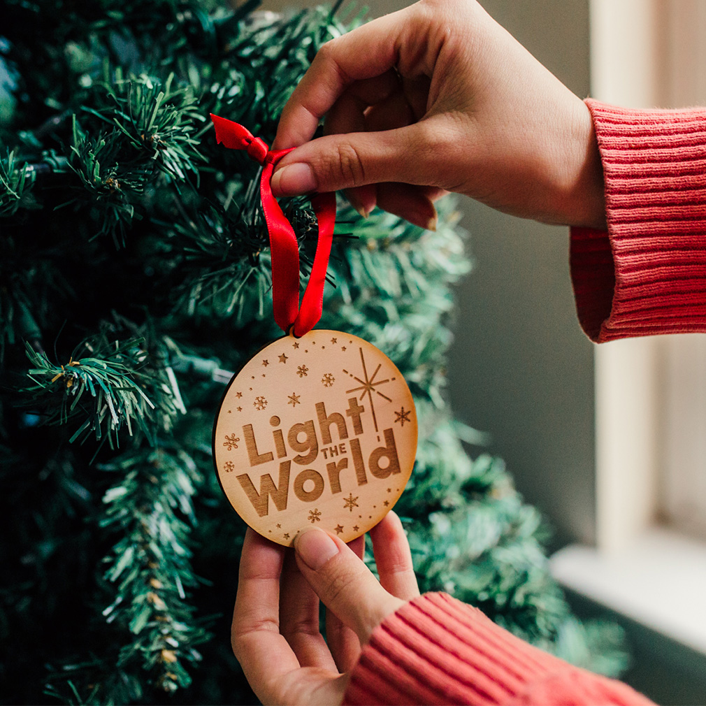 Light the World Ornament - Wood - LDP-ORN-LTW-WOOD