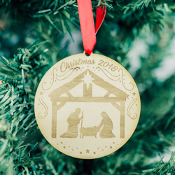 Nativity Ornament - Wood nativity ornament, lds nativity, nativity christmas ornament, christmas ornament, lds christmas ornament, lds gifts, lds christmas gifts, christmas gifts,