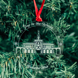Bountiful Temple Ornament - Acrylic bountiful temple ornament, lds bountiful temple, bountiful temple decor, lds temple ornament, christmas ornament, christmas gifts, lds christmas gifts, lds decor, lds temple decor, mormon gifts,