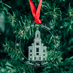Cedar City Temple Ornament - Acrylic cedar city temple, cedar city temple decor, lds christmas gifts, lds temple ornaments, lds temple decor, lds gifts