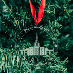 Idaho Falls Temple Ornament - Acrylic idaho falls temple, idaho falls temple ornament, idaho falls temple decor, lds temple ornament, lds decor, lds christmas gifts,