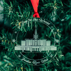 Jordan River Temple Ornament - Acrylic LDS Jordan River Temple, LDS Jordan River Temple ornament, LDS Jordan River Temple decor, lds temple ornament, lds christmas gifts, lds christmas ornaments,
