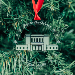Mesa Temple Ornament - Acrylic mesa arizona temple, mesa arizona temple decor, mesa arizona temple ornament, lds temple ornament, lds christmas gifts, lds christmas decor, lds gifts,