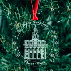 Nauvoo Temple Ornament - Acrylic nauvoo illinous temple, nauvoo illinous temple ornament, nauvoo illinous temple decor, lds temple ornament, lds christmas gifts, lds decor, lds gifts,