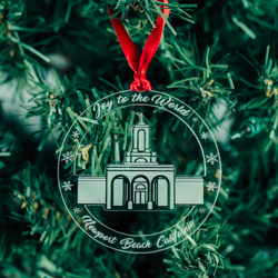 Newport Beach Temple Ornament - Acrylic new port beach california, new port beach california ornament, new port beach california decor, lds temple ornaments, lds temple decor, lds christmas gifts, lds christmas decor