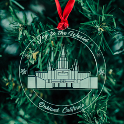 Oakland Temple Ornament - Acrylic oakland california temple, oakland california temple ornament, lds christmas ornament, lds christmas gifts, lds christmas decor, lds decor, lds temple decor