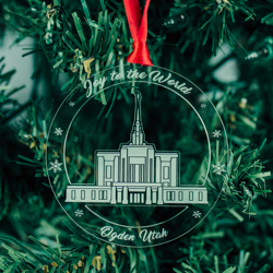 Ogden Temple Ornament - Acrylic ogden temple, ogden temple ornament, lds temple ornament, lds temple decor, lds temple gifts, lds christmas gifts, lds christmas decorations