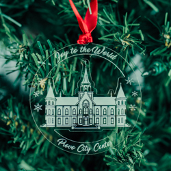 Provo City Center Temple Ornament - Acrylic bountiful temple ornament, lds bountiful temple, bountiful temple decor, lds temple ornament, christmas ornament, christmas gifts, lds christmas gifts, lds decor, lds temple decor, mormon gifts,