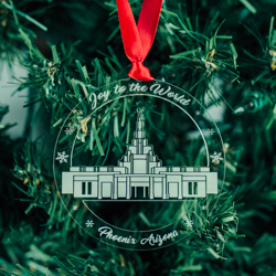 Phoenix Temple Ornament - Acrylic phoenix arizona temple, phoenix arizona temple ornament, phoenix arizona temple decor, lds christmas gifts, lds christmas gifts, lds temple ornaments, lds christmas ornaments