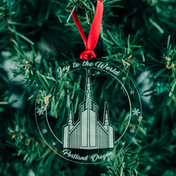 Portland Temple Ornament - Acrylic portland oregon temple, portland oregon temple ornament, portland oregon temple decor, lds temple decor, lds temple ornament, lds chrsitmas gifts, lds gifts, lds wedding gifts