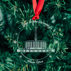 Provo Temple Ornament - Acrylic provo temple, provo temple ornament, lds temple ornament, provo temple decor, lds christmas decor, lds christmas ornament, lds temple ornament, lds gifts, lds christmas gifts