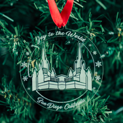 San Diego Temple Ornament - Acrylic san diego california, san diego california ornament, san diego california decor, lds temple ornament, lds christmas gifts, lds christmas decor, lds gifts