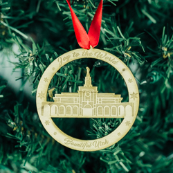 Bountiful Temple Ornament - Wood bountiful temple ornament, lds bountiful temple, bountiful temple decor, lds temple ornament, christmas ornament, christmas gifts, lds christmas gifts, lds decor, lds temple decor, mormon gifts,